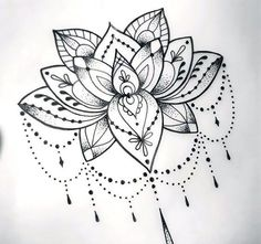 Gorgeous and elegant dotwork lotus for women. Style: Dotwork. Color: Black. Tags: Amazing, Beautiful, Elegant
