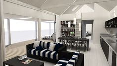 Eunoia - Living Baches :: Architecturally Design Bach Options Nest Building, Compact House, Kit Homes, Architect Design, Beach House, House Design, Architecture, Live, Empty