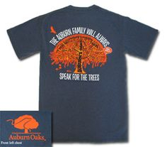 Toomer's Oaks T-shirt from J Bookstore. The Auburn Family will always speak for the for trees. WAR EAGLE! Wearing it now. My new favorite AU shirt.