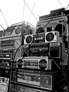 Sometimes we wish we were surrounded in a room by boom boxes playing our favorite music.