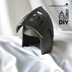 DIY Knight Helmet Template for EVA foam version B