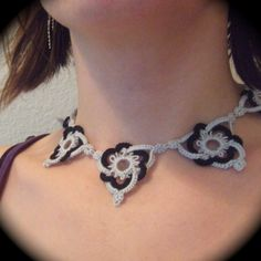 Celtic Triangle tatted Necklace