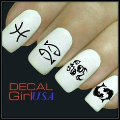 Pisces Nail Art Decals 32 Pisces Zodiac Nail by DecalGirlUSA, $3.85