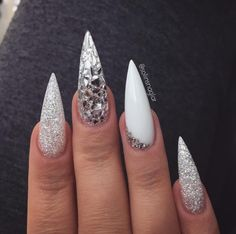 Grey Stiletto Nail Art Ideas Related posts: Simple Nails Art Ideas Compilation for beginners Lovely Nail Designs Ideas Best stiletto nail art designs Pretty Stone Nail Art Design Ideas Stiletto Nail Art, Matte Nails, Acrylic Nails, Coffin Nails, Stiletto Nail Designs, Summer Stiletto Nails, Summer Nails, Nails 2018, White Nail Designs