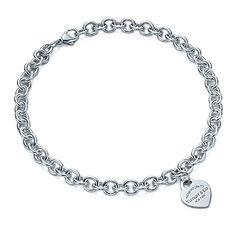 Collana con piastrina a cuore Return to Tiffany™. Argento.