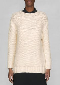 Knitted cotton-blend sweater | Knitted cotton-blend sweater | & Other Stories