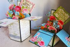 I love making these boxes and I love the Botanical Tea papers by Graphic 45