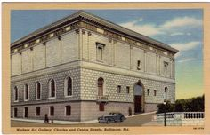 BALTIMORE, MD:  Vintage postcard of The Walters Museum