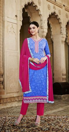 Being a reputed manufacturer and Supplier in the clothing production, we are offering the best quality Floral Designer semi stitch salwar kameez for women. The offered suit is designed by our highly skilled experts by magnificent latest manufacture techniques and fine stitching methods, which make its unyielding against tear. Shalwar Kameez, Salwar Suits, Cotton Silk, Ethnic, Floral Design, Saree, Indian, Traditional, Stitching