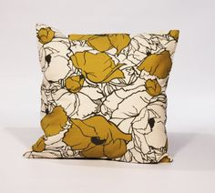 PILLOW COVER 20x20 Decorative Throw Pillows Yellow 20x20 Throw Pillow Covers with Invisible Zipper. $22.95, via Etsy.