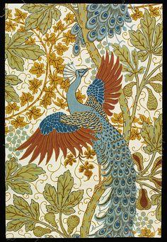 Walter Crane, Fig and Peacock, 1895, via Flickr.