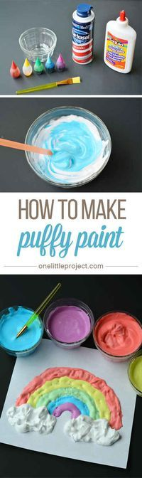You can ever make your own puffy paint!