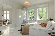 Scandanavian bedroom.