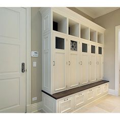 Mudroom Lockers Design, Pictures, Remodel, Decor and Ideas great for mud room in garage idea just need to add sink for Winston!