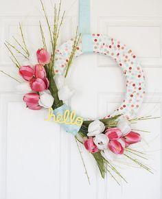 DIY Hello Spring Wreath