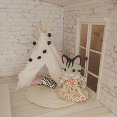 Lundby dollhouse renovation, mini teepee with galand