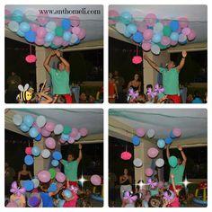 Βarbie Merlia party decoration, party balloons, Ανθομέλι