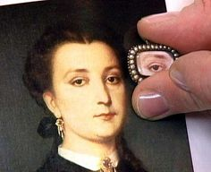 The most famous example of a Georgian Lover's Eye jewel was how King George III proposed to Maria Fitzherbert and married her in a secret and forbidden ceremony before he became King. This is the Lover's Eye she had painted for him as a gift after the clandestine wedding. read more about it here http://www.jewelrynerd.org/blog.html