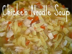 chicken noodle soup in the crockpot