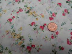 Liberty of London Tana Lawn Fabric 'Elizabeth A' 1.25 METRES x 136cm Red/Yellow 2