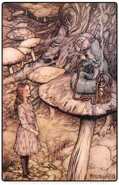 A beautiful poster of an illustration by Arthur Rackham for the 1907 edition of Lewis Carroll's Alice in Wonderland. Fully licensed. Ships fast. 11x17 inches. Need Poster Mounts..?