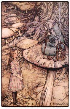 Alice In Wonderland Caterpillar Arthur Rackham Art 11x17 Poster