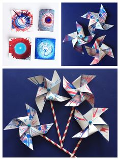 Upcycle kids artwork into playful pinwheels *Awesome arts & crafts project. Saving this for later.