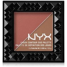 Nyx Cheek Contour Duo Palette ($9) ❤ liked on Polyvore featuring beauty products, makeup, cheek makeup, beauty, wine and dine, palette makeup, nyx, nyx makeup and nyx cosmetics