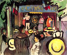 Travelling Show, 1906-Raoul Dufy - by style - Fauvism