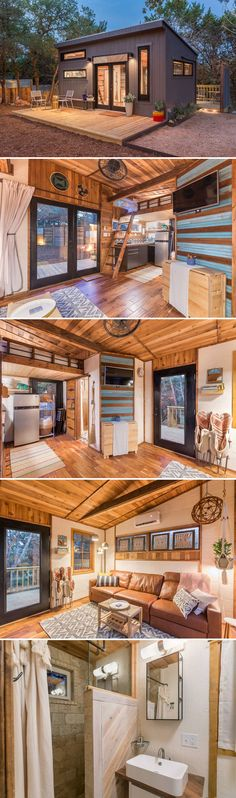 Small Apartment Decorating 394065036148325346 - Located in Wimberley, Texas, the Sundown Tiny Home offers guests a comfortable retreat in the Texas Hill Country. The tiny home is available for nightly rental through Airbnb. Source by Tyni House, Tiny House Cabin, Tiny House Living, Tiny House Design, Tiny House On Wheels, Texas Hill Country, Casas The Sims 4, Wimberley Texas, Tiny Homes