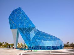 This 55-foot-tall glass slipper in Taiwan was created to attract female visitors.