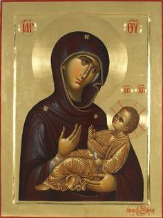 ΜΡ.ΘΥ__ Παναγια           ( Byzantine Icon of the Virgin Mary and Christ -Vatopedi Monastery,Mount Athos Greece)