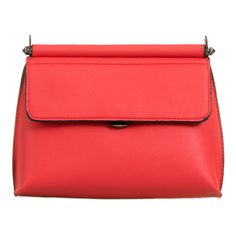 Gigi Faux Leather Clutch Bag in Coral (£18) ❤ liked on Polyvore featuring bags, handbags, clutches, coral clutches, red handbags, vegan handbags, red clutches and vegan leather purses