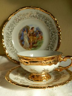 Time For Tea--- Team Treasury 1 - All that Glows Gold by Gaetan and Marg on Etsy