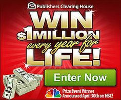 PCH $1 Million Every Year For Life Sweepstakes