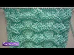 Узор АЖУРНЫЕ ТРЕУГОЛЬНИКИ. Вязание спицами # 378 - YouTube