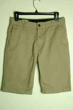 NWT Lot of 2 Arizona Jean Boys Size 20 R Tan Flex Chino Khaki Classic Shorts NEW