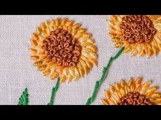 Embroidery Stitches For Hair inside Embroidery Thread Images if Embroidery Designs By Tm, Embroidery Designs Studio a Embroidery Machine Gun Simple Embroidery Designs, French Knot Embroidery, Embroidery Stitches Tutorial, Hand Embroidery Flowers, Embroidery Transfers, Hand Embroidery Stitches, Embroidery Kits, Beaded Embroidery, Hand Flowers