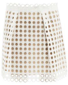CHLOÉ • Broderie anglaise mini skirt