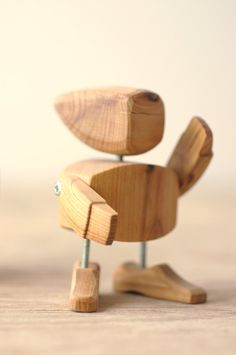 Wooden Robot by eggandyolk on Etsy