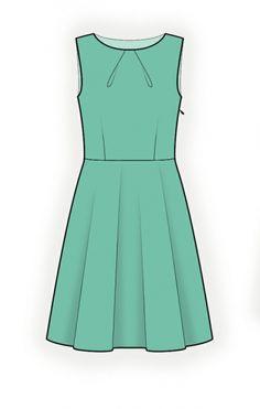 Jurk - Naaipatroon #4263 (ook te verkrijgen als Mandy Dress in FB-groep Handwerk)