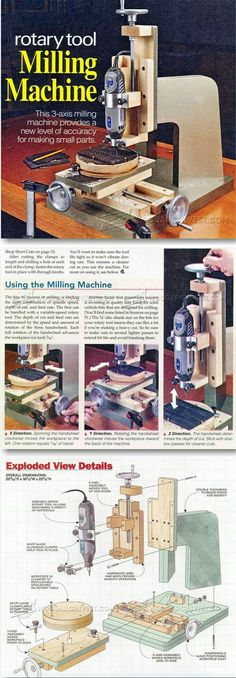 DIY Milling Machine - Router Tips, Jigs and Fixtures Woodworking Jigs, Carpentry, Woodworking Projects, Woodworking Workshop, Dremel Projects, Wood Projects, Wood Tools, Diy Tools, Bois Diy