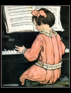 Girl At Piano by Jessie Wilcox Smith