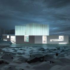 Renderings of Icelandic Opera House by Arkitema and Arkthing for Reykjavik