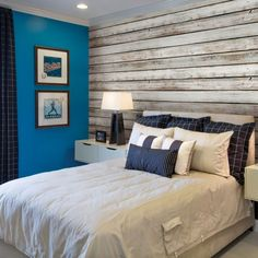 White Vintage Wood Wallpaper - Peel and Stick, Wood Wall Paneling, Wood Wall Art