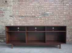 Lp Storage, Vinyl Storage, Record Storage, Walnut Veneer, Wood Veneer, Cubbies, Shelves, Record Cabinet, Water Based Stain