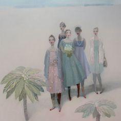 Kristin Vestgard 'Don't listen to them, listen to us' Oil on Canvas, 130 x 130 cm