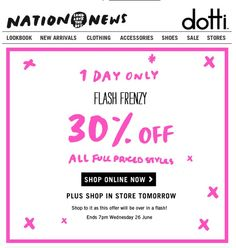 Dotti email  24/6/2013 sale