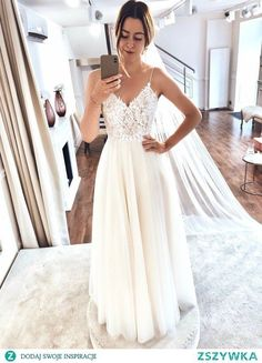 White v neck lace chiffon long prom dress, white lace evenin.- White v neck lace chiffon long prom dress, white lace evening – – Hochzeitskleid White v neck lace chiffon long prom dress white lace evening # - White Lace Wedding Dress, Backless Wedding, Dream Wedding Dresses, Bridal Dresses, Wedding Gowns, Bridesmaid Dresses, Wedding Bride, Dresses Dresses, Simple Country Wedding Dresses