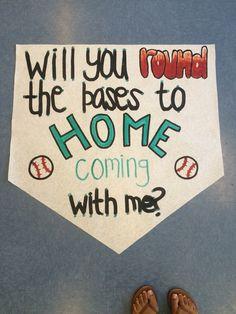 baseball homecoming proposal